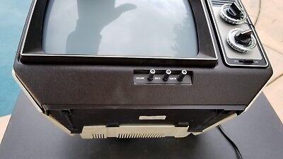 GE SCULPTURE VINTAGE TELEVISION MOD SPACE AGE RETRO 1979 BLACK & WHITE TV Mint