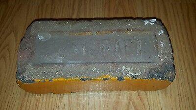 Antique Vintage Claycraft Red Orange Glazed Rare Building Brick Columbus Oh Ohio 3