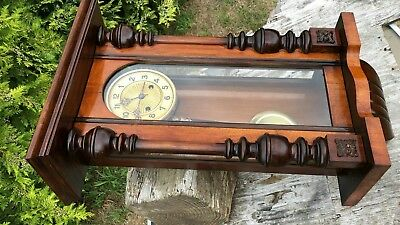 Beautiful Antique Vintage Wooden Wall Clock * 7