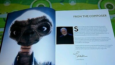 Brochure E.T extraterrestre Royal Albert Hall 28.12.16 Londra 2