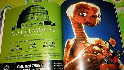 Brochure E.T extraterrestre Royal Albert Hall 28.12.16 Londra 3