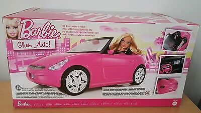 Barbie Pink Auto Glam Convertible Car & Doll V6744 Toy Gift Mattel *Brand New* 10