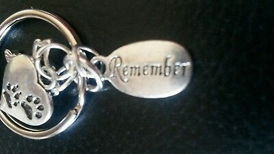 Pet Bereavement Keyring Angel Paw Keychain In Memory of Dog Sympathy Charms 4
