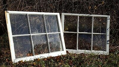 Architectural Salvage ANTIQUE WINDOW SASH FRAME,  34x28 set of 2 GLASS REMOVED 3