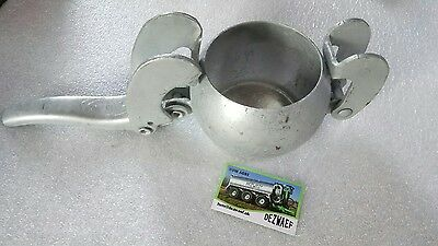 """Bauer Male End Plug for Slurry Coupler c//w levers 4/"""" to 6/"""" Steel Galvanized"""