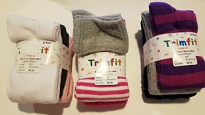 Girls Trimfit Brand Sweater Tights 2 Pack Various Colors Designs Size 4-6 7-10