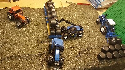 10 Handmade Scratch Built Round Silage Bales 1//32 To Suit Britains Model Farm