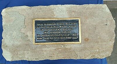 ANTIQUE ARCHITECTURAL USA WHITE HOUSE 1790s AQUIA CREEK VA SANDSTONE ARTIFACT 7