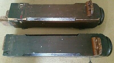 """Pair of 27"""" Antique Solid Wood Newel Baluster Posts, Pillars or Columns 3"""