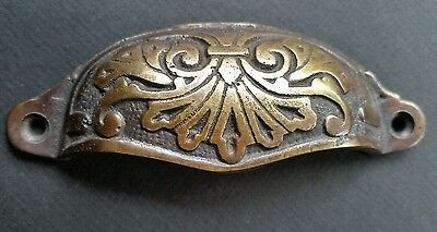 """8 Apothecary Drawer Cup Bin Pull Handles 4 1/8"""" Antique Vict. Style Brass #A1 4"""