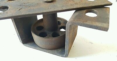 Antique Vintage Heavy Duty Industrial Cast Iron Factory Bracketed Wheels 7