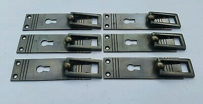 """6 Arts and Crafts Mission Brass Handle Pull antique style 3 7/8""""  #H31"""
