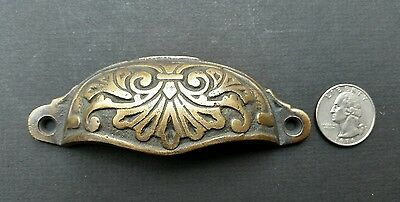 """2 Ornate Apothecary Cabinet Drawer Cup Pull Handles Victorian Style  4 1/8"""" #A1 3"""