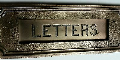 Big Antique Heavy Cast Bronze letter slot over 100 years old!!! 7