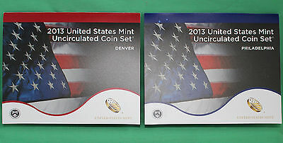 2013 ANNUAL US Mint Uncirculated Coin Set 28 P and D Minted Coins with COA 7
