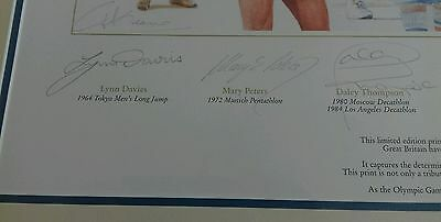 British  Olympic  legends signed print. NOW REDUCED. 4