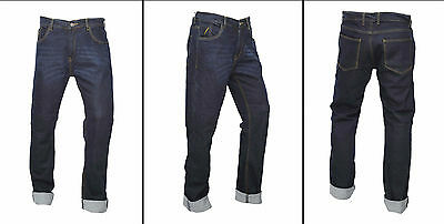 Mens motorcycle armour TROUSER JEANS ENGINEERED BLUE protective lining slim fit 4