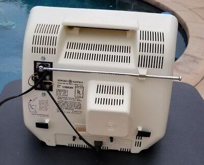 GE SCULPTURE VINTAGE TELEVISION MOD SPACE AGE RETRO 1979 BLACK & WHITE TV Mint 3
