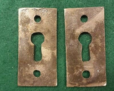 Pair Decorative Victorian Style Key Hole Covers  Cast Iron 2