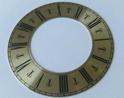 Clock Chapter/Hour Ring Brass Coloured Aluminum Roman 99mm Outside 58mm Inside