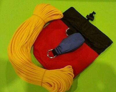 Throw Line Kit  Rope Bag , 9 OZ throw Bag and 150' of Throw Line