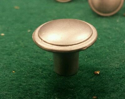 "Brushed nickel chrome plated knobs pulls 3/4""  new screws up to 24 available 3"