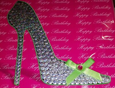 Papyrus Glitter High Heel Shoe Blank Any Occasion Greeting Single Note Card