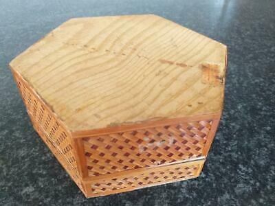 vintage wooden bamboo box Chinese made in people's republic China 5