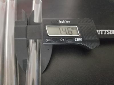 "6"" Borosilicate Tubing Pyrex Clear Glass Tubes 14-15mm OD 2.5mm Wall Sharp Cut 3"