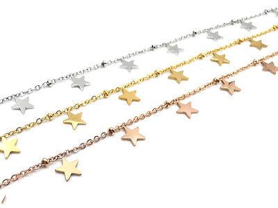 Collana donna con stelle girocollo in acciaio stelline collanina da catenina per 3