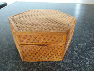 vintage wooden bamboo box Chinese made in people's republic China 2