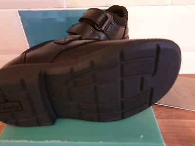 * SALE CLARKS Deaton Inf RIP TAPE BLACK SHOES