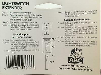 Light Switch Extender  Baby Safety Boys & Girls - ** Package of 2 ** 2