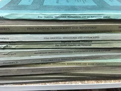 Sotheby's Rare Catalogs Lot Sale col 15 Oriental minatures/ Qajar painting coin