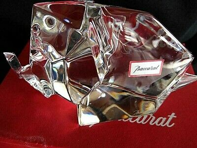 Baccarat  Crystal Origami Elephant Sculptures/Figurines 3