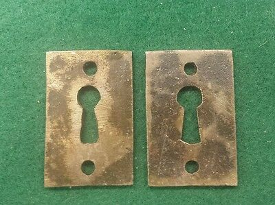 PAIR Keyhole covers CAST IRON Victorian Style Pattern. Really different. 2