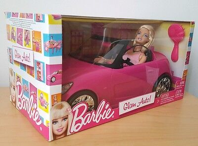 Barbie Pink Auto Glam Convertible Car & Doll V6744 Toy Gift Mattel *Brand New* 8