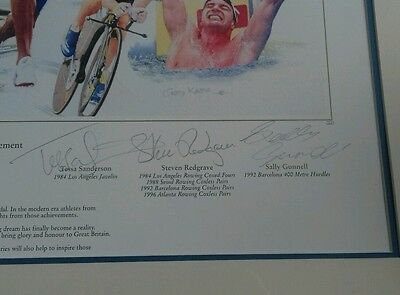 British  Olympic  legends signed print. NOW REDUCED. 3