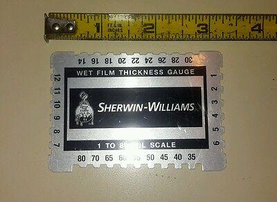 1 To 80 Mil Kristeel Shinwa Rectangular Wet Film Thickness Gauge