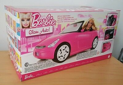 Barbie Pink Auto Glam Convertible Car & Doll V6744 Toy Gift Mattel *Brand New* 9