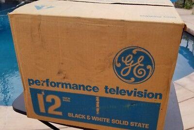 GE SCULPTURE VINTAGE TELEVISION MOD SPACE AGE RETRO 1979 BLACK & WHITE TV Mint 11