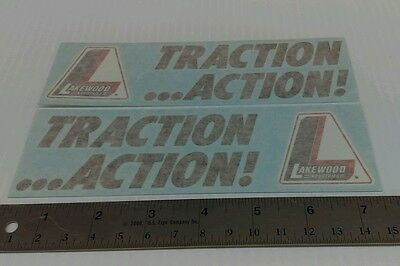 Lakewood Traction Action Decals Stickers Grumpy's Toy NHRA Gasser Racing Decals 2