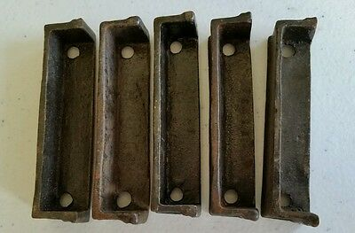 Set of 5 of 3 inch Cast Iron Door Rim Lock Keeper  Catch Strike Plate (#1) 4