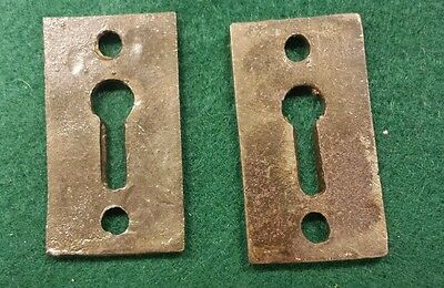 Pair Decorative Victorian Style Key Hole Covers~Cast Iron 2