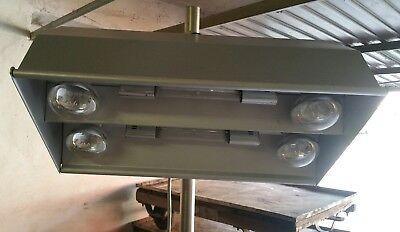 Alte Arztlampe Stehlampe Metall Rollen höhenverstellbar Medizin 8