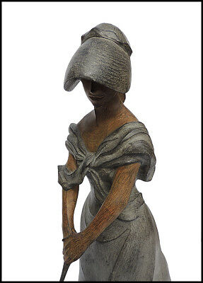 Enrique Marinsky Verano Deleite Original Femenino Bronce Escultura Firmado Obra 2
