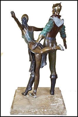 Richard Shiloh Grande Original Bronce Escultura Danza Figurative Firmado Obra 2