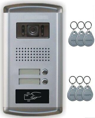 """2 Familien Video Türsprechanlage Gegensprechanlage Unterputz mit3+3 Monitore 7"""" 2"""
