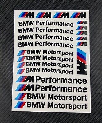 Mpower decal set 53 stickers wheel rim bmw performance Motorsport 3 5 7 series 4