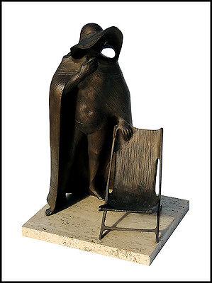 Enrique Marinsky Original Bronce Escultura Auténtico Carne Femenino Firmado Obra 2